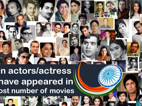 Top 10 Indian Actors/Actresses appeared in most movies
